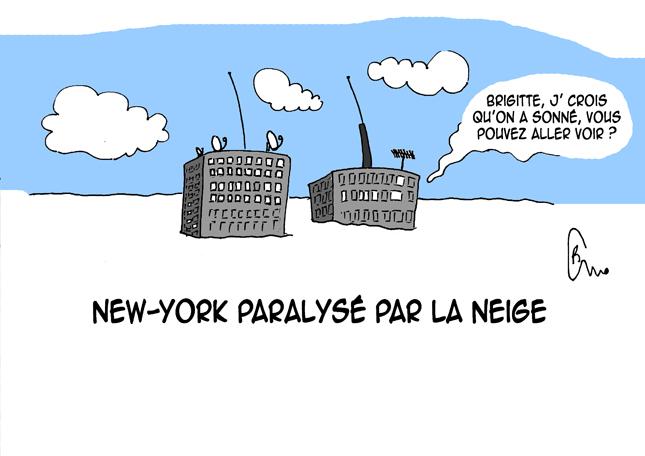 Le dessin du jour sur Actu95 : New York sous la neige